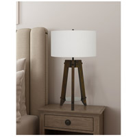 Cal Lighting BO-2833TB Bilzen 32 inch 150 watt Walnut Table Lamp Portable Light Tripod