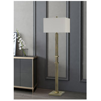 Cal Lighting BO-2836FL Tineo 62 inch 150 watt Wood with Antique Brass Floor Lamp Portable Light