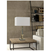 Cal Lighting BO-2836TB Tineo 29 inch 150 watt Wood with Antique Brass Table Lamp Portable Light