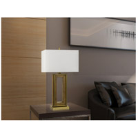 Cal Lighting BO-2837TB Couvin 30 inch 150 watt Antique Brass and Pine Wood Table Lamp Portable Light