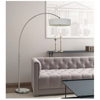 Cal Lighting BO-2841FL-BS Chardon 83 inch 36 watt Brushed Steel Arc Floor Lamp Portable Light