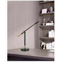 Cal Lighting BO-2843DK Virton 27 inch 10 watt Black and Antique Brass Desk Lamp Portable Light Tubular