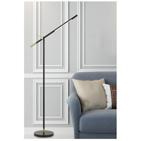 Cal Lighting BO-2843FL Virton 68 inch 10 watt Black and Antique Brass Floor Lamp Portable Light Tubular