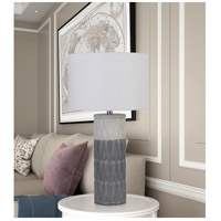 Cal Lighting BO-2847TB-2 Voula 29 inch 100 watt Grey Table Lamp Portable Light Pair