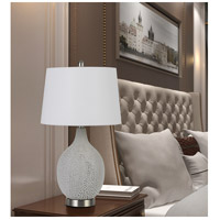Cal Lighting BO-2850TB-2 Edessa 25 inch 100 watt Fossil White Crackle Table Lamp Portable Light Pair