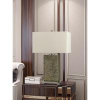 Cal Lighting BO-2852TB Tavros 27 inch 150 watt Argent Table Lamp Portable Light Pair
