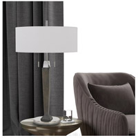 Drancy 30 inch 60 watt Chrome and Expresso Table Lamp Portable Light