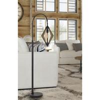 Cal Lighting BO-2856FL Valence 67 inch 60 watt Black and Pine Wood Floor Lamp Portable Light