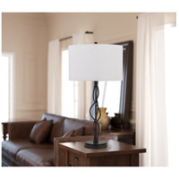 Antony 30 inch 150 watt Textured Bronze Table Lamp Portable Light