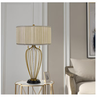 Cal Lighting BO-2859TB Laval 31 inch 60 watt Antique Brass and Black Table Lamp Portable Light