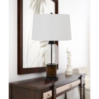 Cal Lighting BO-2862TB Bron 30 inch 150 watt Pine Wood Table Lamp Portable Light
