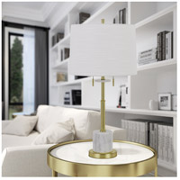 Cal Lighting BO-2863TB Lille 30 inch 60 watt Antique Brass Table Lamp Portable Light