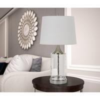 Cal Lighting BO-2864TB-2 Forssa 29 inch 150 watt Chrome Table Lamp Portable Light Pair