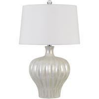 Cal Lighting BO-2879TB Afragola 27 inch 150 watt Pearl Table Lamp Portable Light