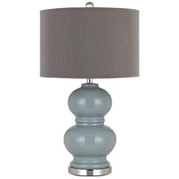 Cal Lighting BO-2884TB-2-BLU Bergamo 27 inch 150 watt Slate Blue Table Lamp Portable Light