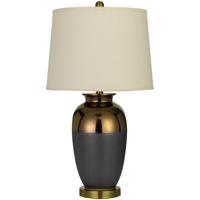 Cal Lighting BO-2887TB Cantanzaro 28 inch 150 watt Copper with Smoked Ash Table Lamp Portable Light