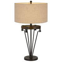 Iron and Wood Metal Table Lamps
