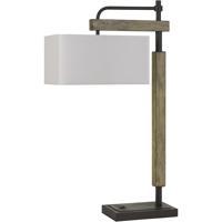 Cal Lighting BO-2889DK Alloa 32 inch 100 watt Dark Bronze with Wood Desk Lamp Portable Light