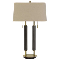 Avellino 32 inch 60 watt Espesso with Antique Brass Accents Desk Lamp Portable Light
