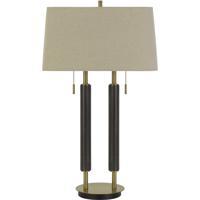 Cal Lighting BO-2893DK Avellino 32 inch 60 watt Espesso with Antique Brass Accents Desk Lamp Portable Light
