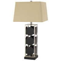 Cal Lighting BO-2897TB Hanson 32 inch 150 watt Black with Antique Silver Table Lamp Portable Light