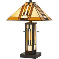 Cal Lighting BO-2902TB Tiffany 23 inch 60 watt Dark Bronze Table Lamp Portable Light