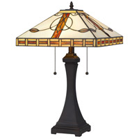 Tiffany Bronze Glass Table Lamps