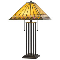 Cal Lighting BO-2904TB Tiffany 24 inch 60 watt Dark Bronze Table Lamp Portable Light