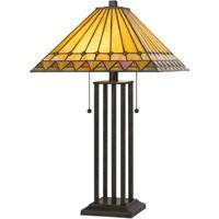 Cal Lighting BO-2904TB Tiffany 24 inch 60 watt Dark Bronze Table Lamp Portable Light