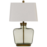 Glass and Wood Table Lamps