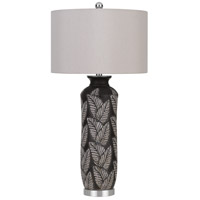 Cal Lighting BO-2913TB Shiloh 32 inch 150 watt Black/Silver Table Lamp Portable Light
