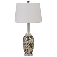 Cal Lighting BO-2914TB-2 Paxton 30 inch 150 watt Pearl/Black Table Lamp Portable Light