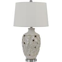 Cal Lighting BO-2915TB Leland 28 inch 150 watt Ivory/Gold Table Lamp Portable Light