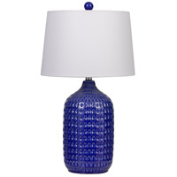 Cal Lighting BO-2919TB-2 Adelaide 27 inch 150 watt Royal Blue Table Lamp Portable Light