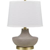 Cal Lighting BO-2937TB Almelo 20 inch 150 watt Cement/Antique Gold Table Lamp Portable Light