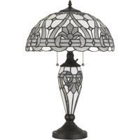 Cal Lighting BO-2943TB Tiffany 25 inch 60 watt Black Table Lamp Portable Light