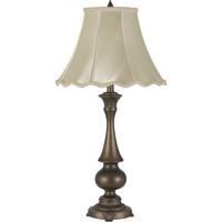 Cal Lighting BO-2949TB Clare 32 inch 150 watt Antique Brass Table Lamp Portable Light