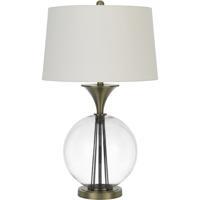 Cal Lighting BO-2990TB Moxee 31 inch 150.00 watt Glass/Antique Brass Table Lamp Portable Light