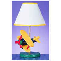 Airplane 15 inch 60 watt Multi Kids Table Lamp Portable Light