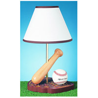 Baseball 15 inch 60 watt Multi Kids Table Lamp Portable Light
