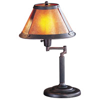 Mica 18 inch 60 watt Rust Swing Arm Desk Lamp Portable Light