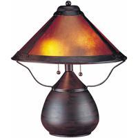 Cal Lighting BO-464 Mica 17 inch 40 watt Rust Table Lamp Portable Light