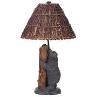 Cal Lighting BO-507 Bear And Honey Bee 29 inch 150 watt Antique Bronze Table Lamp Portable Light