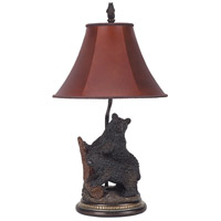 Bear 29 inch 100 watt Dark Bronze Table Lamp Portable Light