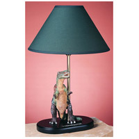 Tyrannosaur Dinosaur 15 inch 60 watt Green Kids Table Lamp Portable Light