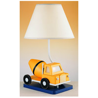 Cement Truck 21 inch 60 watt Yellow And Blue Kids Table Lamp Portable Light, with Night Light