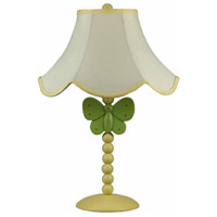 Butterfly 20 inch 60 watt Yellow and Green Table Lamp Portable Light