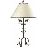 Cal Lighting BO-667TB Deer 32 inch 150 watt Rust Table Lamp Portable Light