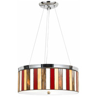 Cal Lighting FX-1089/1P Tiffany 3 Light 18 inch Chrome Pendant Ceiling Light