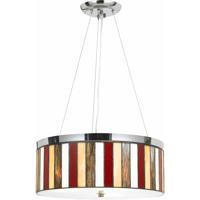 Cal Lighting FX-1089/1P Tiffany 3 Light 18 inch Chrome Pendant Ceiling Light